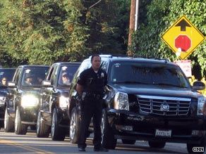 Michael Jackson's Motorcade Takes Star to Memorial in High Style