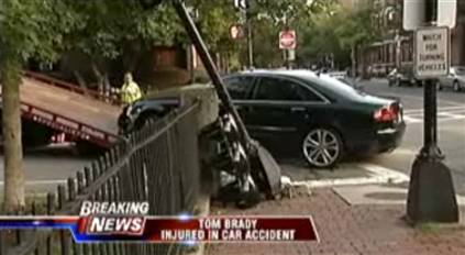 boston car bay crash red light